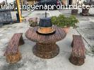 Fahatású kerti bográcsozó grillező